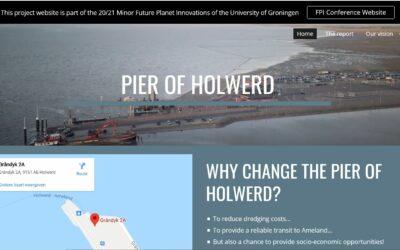 Advies RUG studenten over transformatie van de pier bij Holwerd